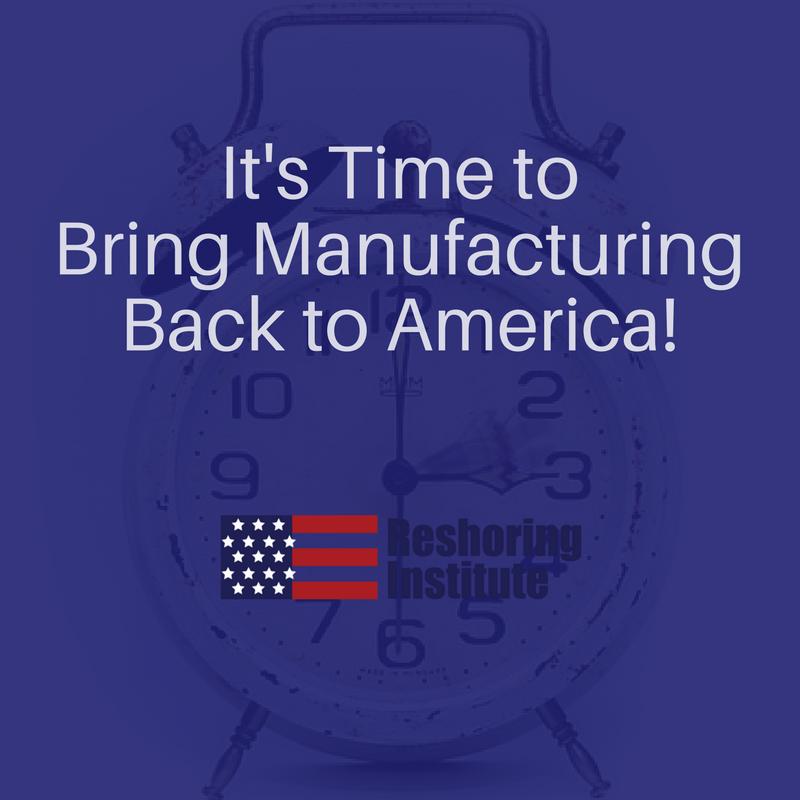Bring Manufacturing Back
