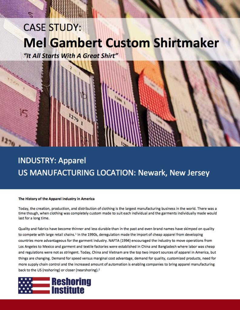 reshoring mel gambert