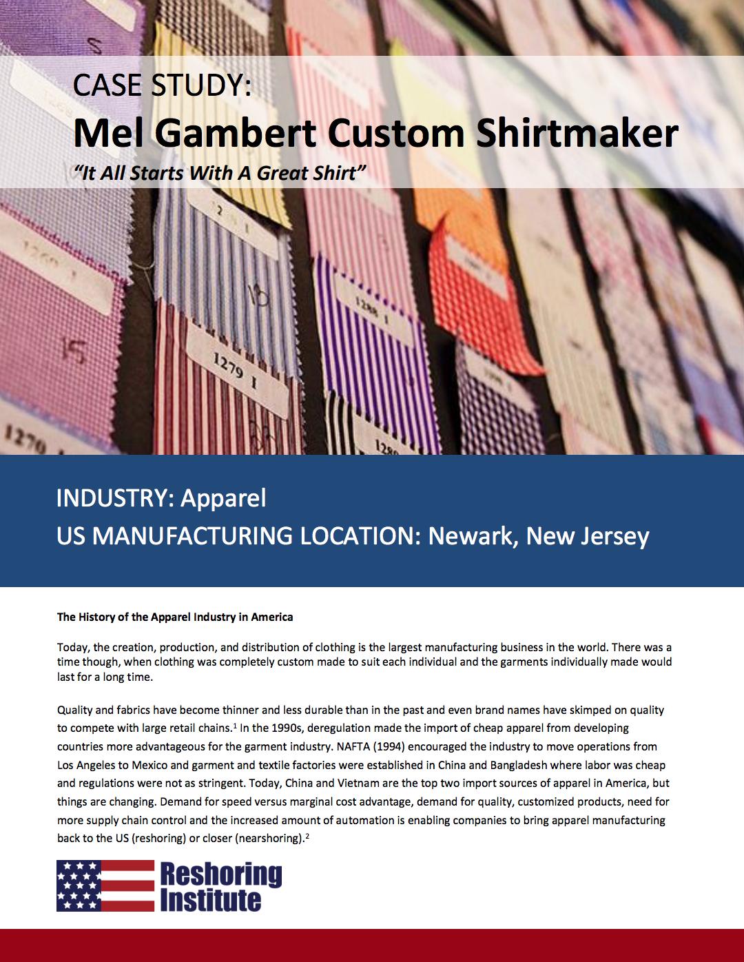 Mel Gambert Custom Shirts