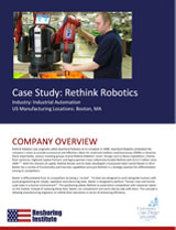 Rethink Robotics Case Study